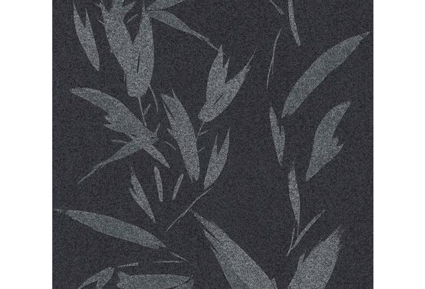 AS Création Vliestapete New Elegance Palmentapete schwarz grau metallic 375492 10,05 m x 0,53 m