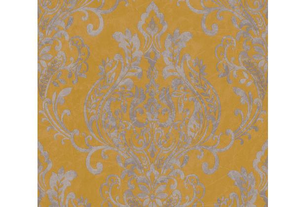 AS Création Vliestapete New Life Barocktapete gelb grau metallic 376812 10,05 m x 0,53 m