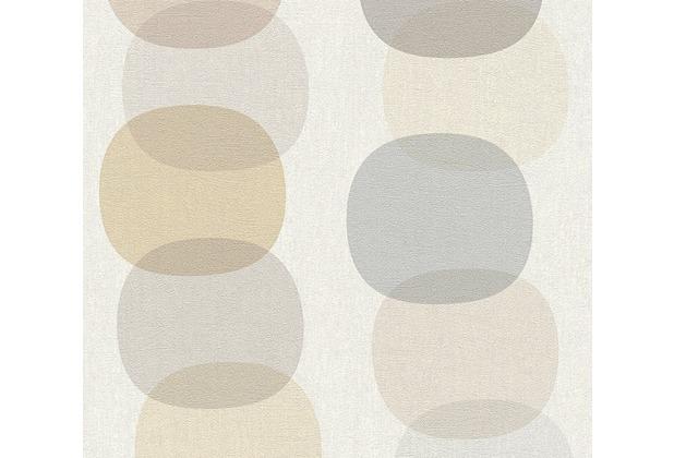 AS Création Vliestapete Pop Colors Tapete beige braun grau 355903 10,05 m x 0,53 m