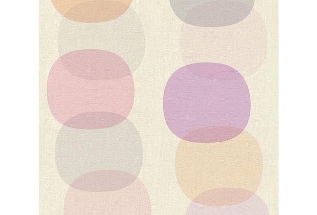 AS Création Vliestapete Pop Colors Tapete grau orange rosa 355904 10,05 m x 0,53 m