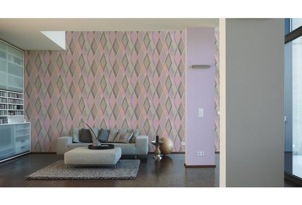 AS Création Vliestapete Pop Colors Tapete lila 10,05 m x 0,53 m