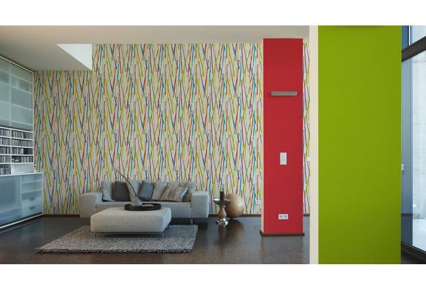 AS Création Vliestapete Pop Colors Tapete rot 10,05 m x 0,53 m
