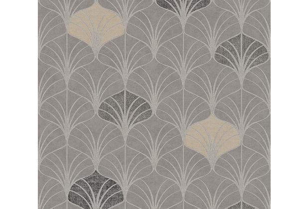 AS Création Vliestapete Pop Style Art Deco Tapete grau beige braun 374832 10,05 m x 0,53 m