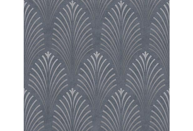 AS Création Vliestapete Pop Style Art Deco Tapete grau metallic schwarz 374822 10,05 m x 0,53 m