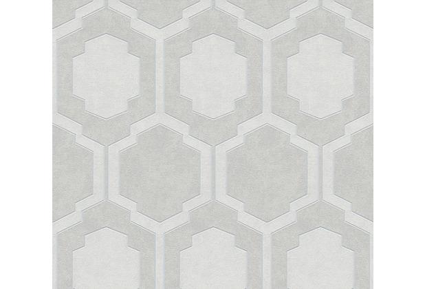 AS Création Vliestapete Pop Style geometrische Tapete grau metallic beige 374792 10,05 m x 0,53 m