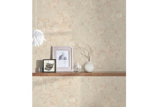 AS Création Vliestapete Romantico Tapete romantisch floral creme beige braun 372242 10,05 m x 0,53 m