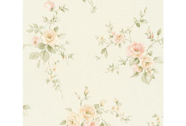 AS Création Vliestapete Romantico Tapete romantisch floral creme rosa grün 372307 10,05 m x 0,53 m