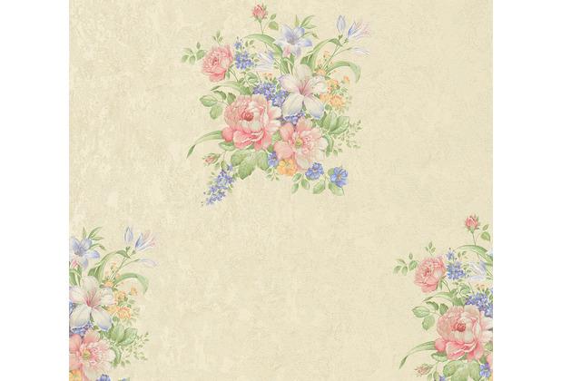 AS Création Vliestapete Romantico Tapete romantisch floral creme rosa grün 372251 10,05 m x 0,53 m