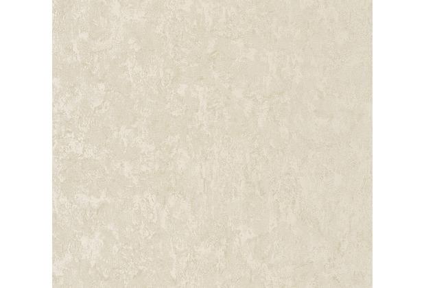 AS Création Vliestapete Romantico Tapete Uni grau beige 372281 10,05 m x 0,53 m