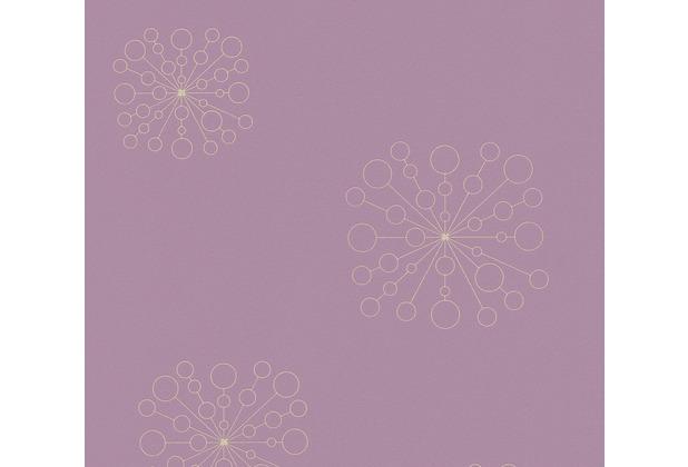 AS Création Vliestapete Scandinavian 2 Tapete floral lila metallic 367842 10,05 m x 0,53 m