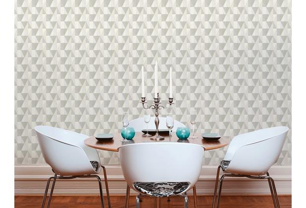 AS Création Vliestapete Scandinavian 2 Tapete geometrisch grafisch grau weiß creme 10,05 m x 0,53 m