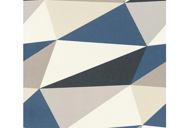 AS Création Vliestapete Scandinavian 2 Tapete in 3D Optik geometrisch blau braun grau 364752 10,05 m x 0,53 m