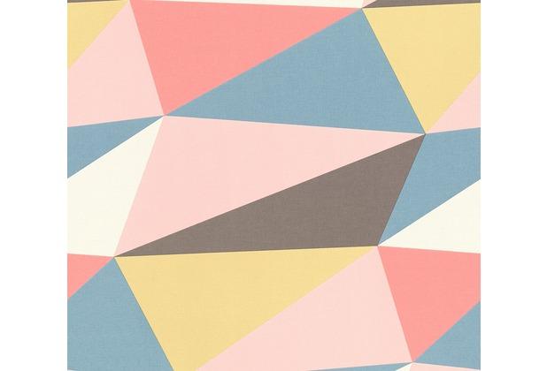 AS Création Vliestapete Scandinavian 2 Tapete in 3D Optik geometrisch gelb rot rosa 364751 10,05 m x 0,53 m