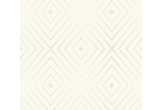 AS Création Vliestapete Scandinavian 2 Tapete in 3D Optik geometrisch weiß creme 367851 10,05 m x 0,53 m