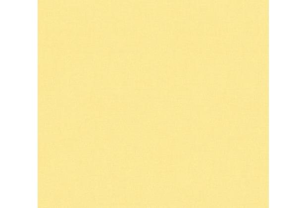 AS Création Vliestapete Scandinavian 2 Tapete Uni gelb 359851 10,05 m x 0,53 m