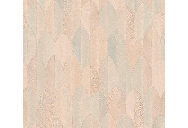 AS Création Vliestapete Sumatra Tapete im Ethno Look orange grün 373732 10,05 m x 0,53 m