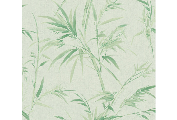 AS Création Vliestapete Sumatra Tapete mit Palmenblättern grün 373764 10,05 m x 0,53 m