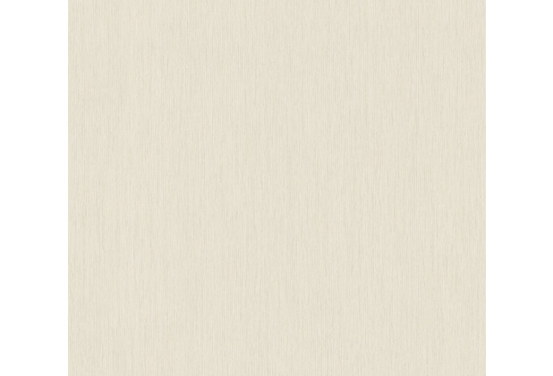 AS Création Vliestapete Sumatra Tapete Uni creme grau 373753 10,05 m x 0,53 m