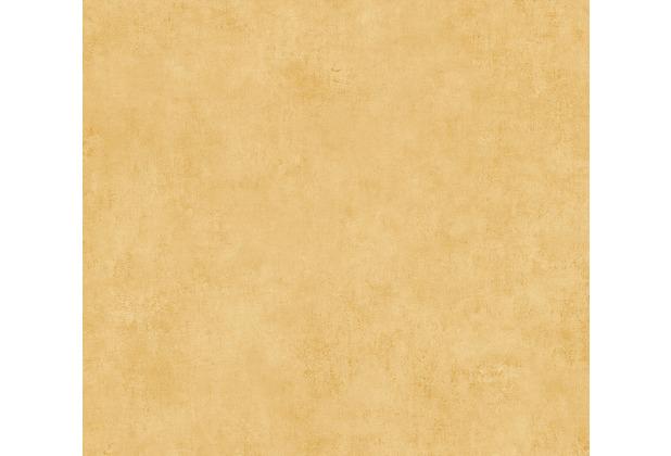 AS Création Vliestapete Sumatra Tapete Uni gelb orange 373701 10,05 m x 0,53 m
