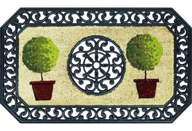 Astra Coco Twin Des. 03 Bäume rund natur / schwarz 45 x 75 cm