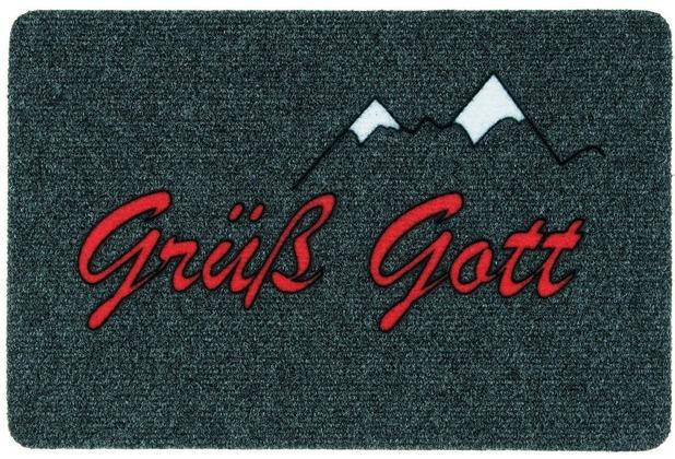 Astra Flocky Color Des. 100 Grüß Gott anthrazit 40 x 60 cm