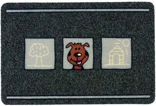 Astra Flocky Color Des. 178 Hund anthrazit 40 x 60 cm