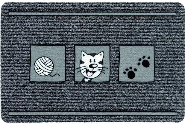 Astra Flocky Color Des. 179 Katze anthrazit 40 x 60 cm