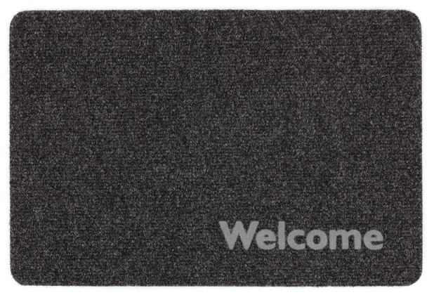 Astra Flocky Color Des. 201 Welcome anthrazit 40 x 60 cm