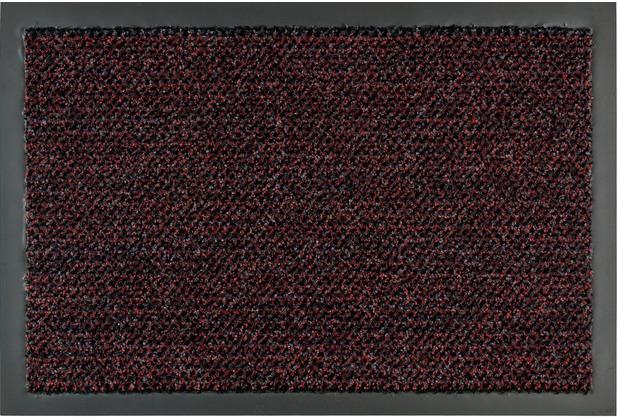 Astra Fussmatte Graphit rot 60x90