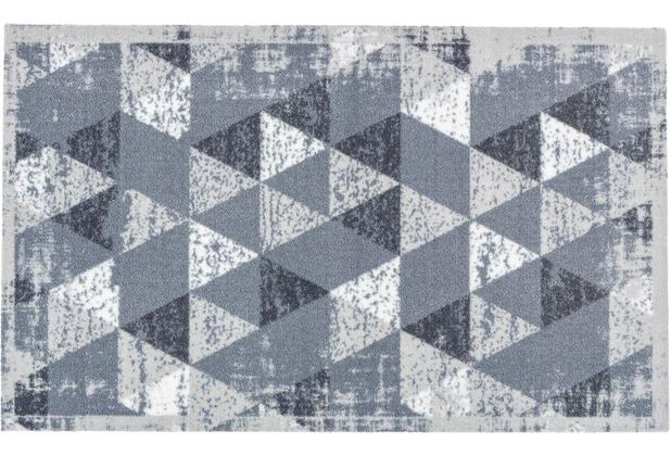 Astra Miabella Design 716 Colour 042 Dreiecke hellgrau 50 x 150 cm