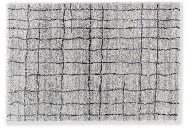 Astra Teppich Savona D. 193 C. 005 Gitter Grau 133x190 cm