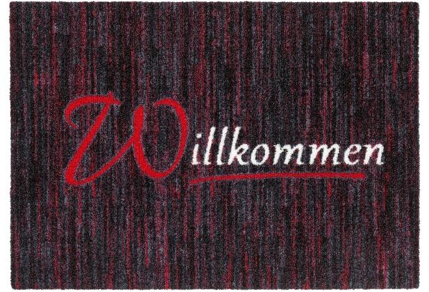 Astra Türmatte Felicido D. 803 C. 010 Willkommen rot 50x70 cm