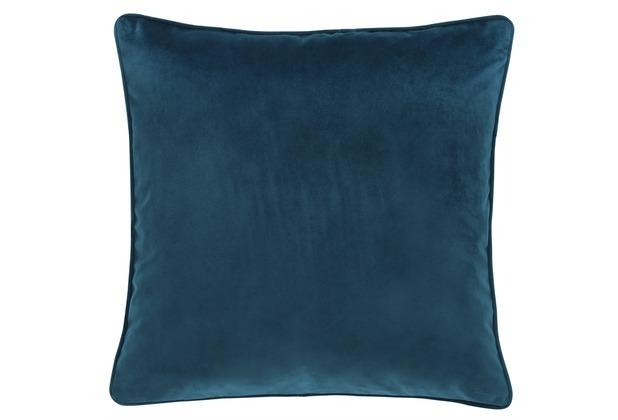 Barbara Becker Kissenhülle Velvet Nights blau 45 x 45 cm