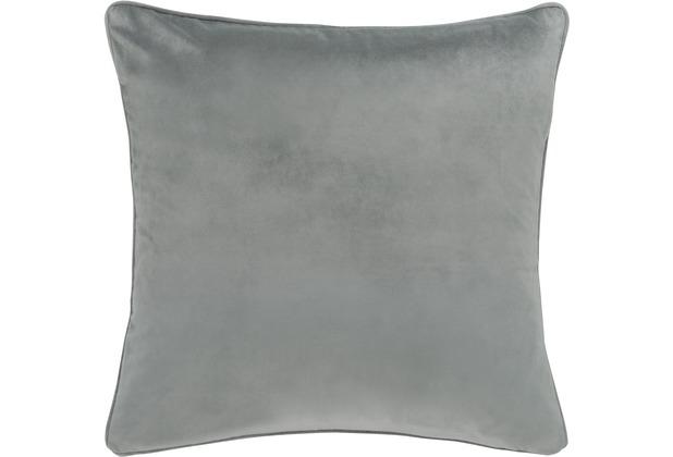 Barbara Becker Kissenhülle Velvet Nights grau-silber-schwarz 45 x 45 cm