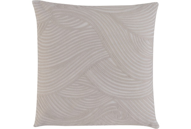 BARBARA Home Collection Kissenhülle Wave taupe 50 x 50 cm