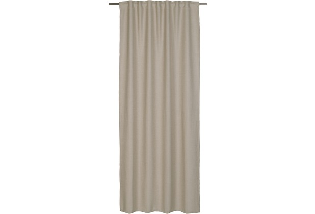BARBARA Home Collection Schlaufenbandschal Barbara beige 140 x 255 cm