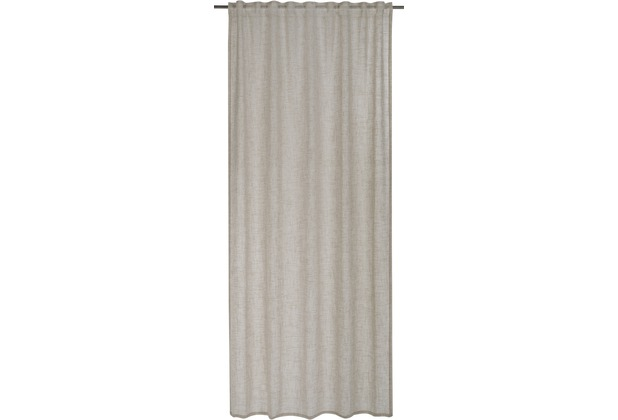 BARBARA Home Collection Schlaufenbandschal Emotions taupe 140 x 255 cm