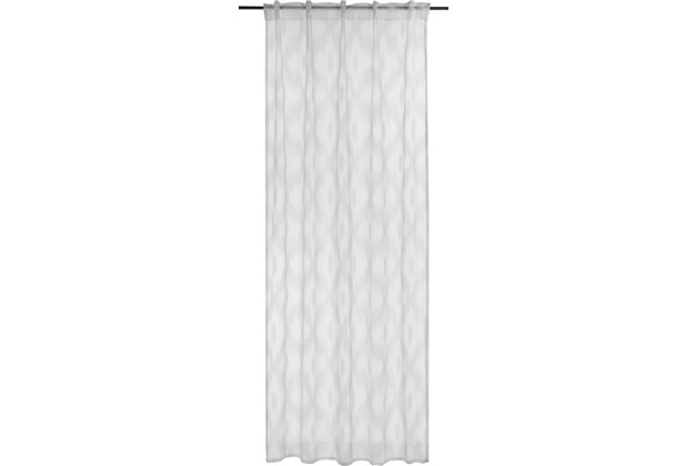 BARBARA Home Collection Schlaufenbandschal Rhombus weiß 140 x 255 cm