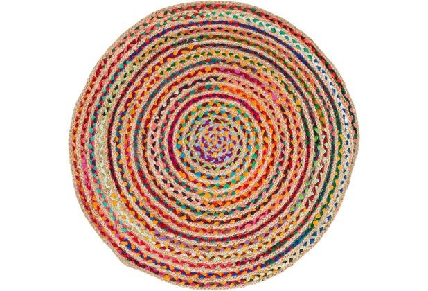 Barbara Becker Handwebteppich Misty BB Ethno multi 80 cm rund