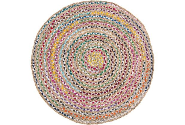 Barbara Becker Handwebteppich Misty BB Ethno pastel 80 cm rund
