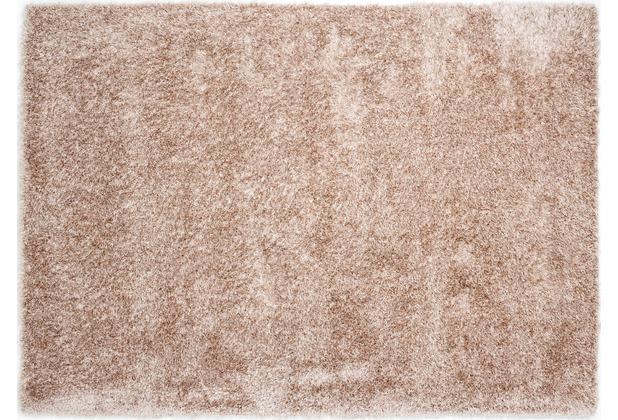 Barbara Becker Hochflorteppich Emotion creme 70 cm x 140 cm