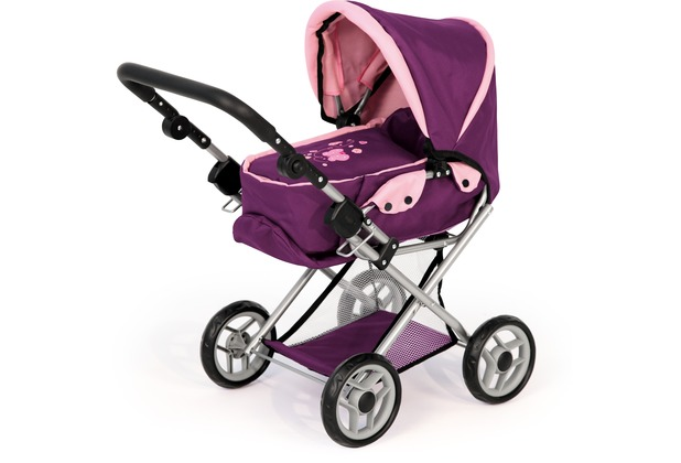 Bayer Design Kombi-Puppenwagen Maxi Pflaume