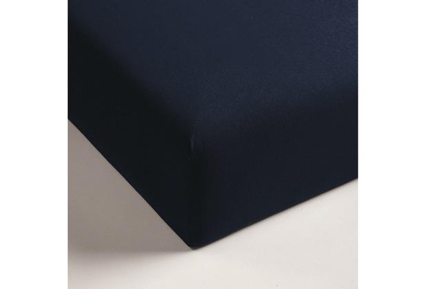 Beddinghouse Jersey-Spannbettlaken, dunkelblau 160x200/210