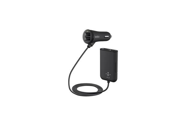 Belkin Road Rockstar 4-fach USB Auto-Ladegerät, Schwarz