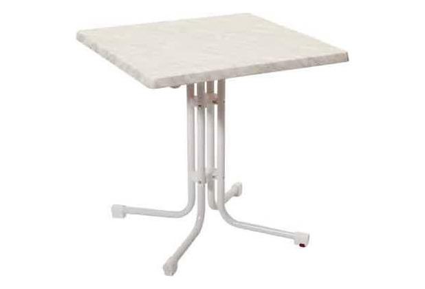 acamp Tisch piazza 70x70cm, weiß