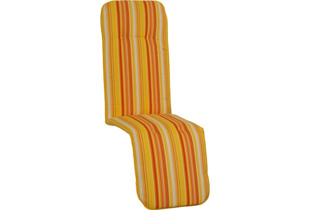BEO Paspelauflage Relax feine Streifen gelb-creme-orange M616