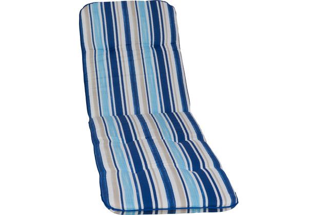 BEO Paspelauflage Rolliege Capri hellblau, blau gestreift MS02