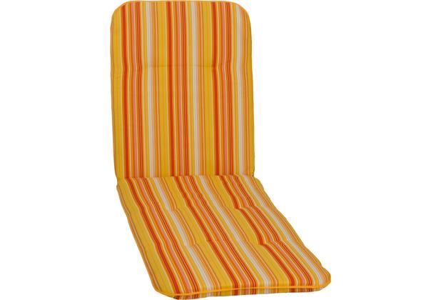 BEO Paspelauflage Rolliege feine Streifen gelb-creme-orange M616