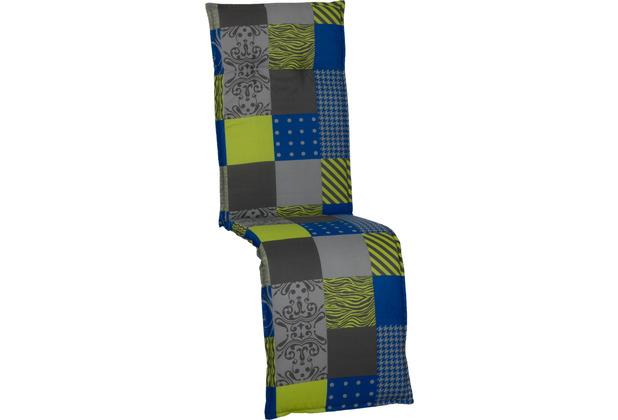 BEO Saumauflage Relax blau-grün-graues Patchwork M652