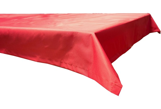 BEO Tischdecke 76x76 wasserabweisend mit Windport rot PY305